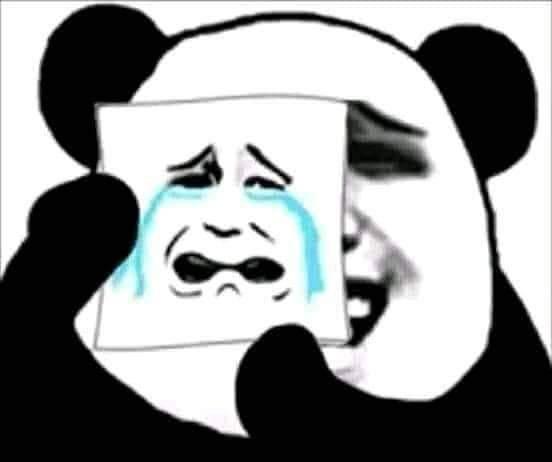 Sad or haha - haha behind sad