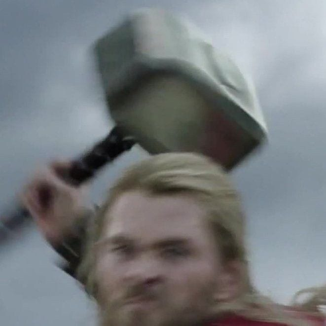Thor going to slam you with his hammer