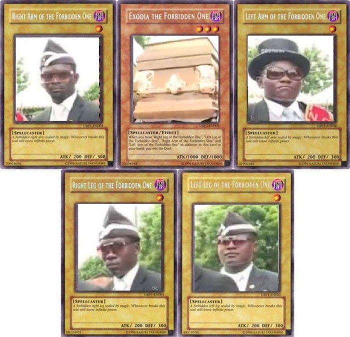 Coffin dance black guys card - Forbidden One