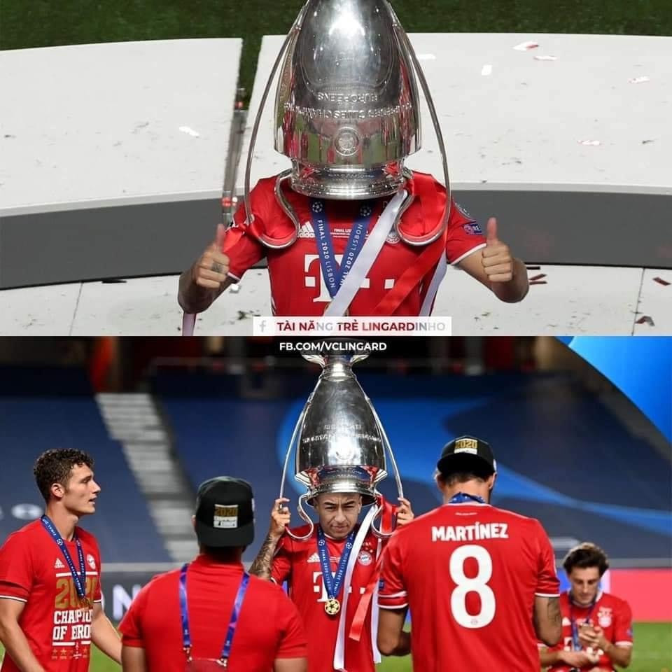 Lingardinho plays with Champions League cup