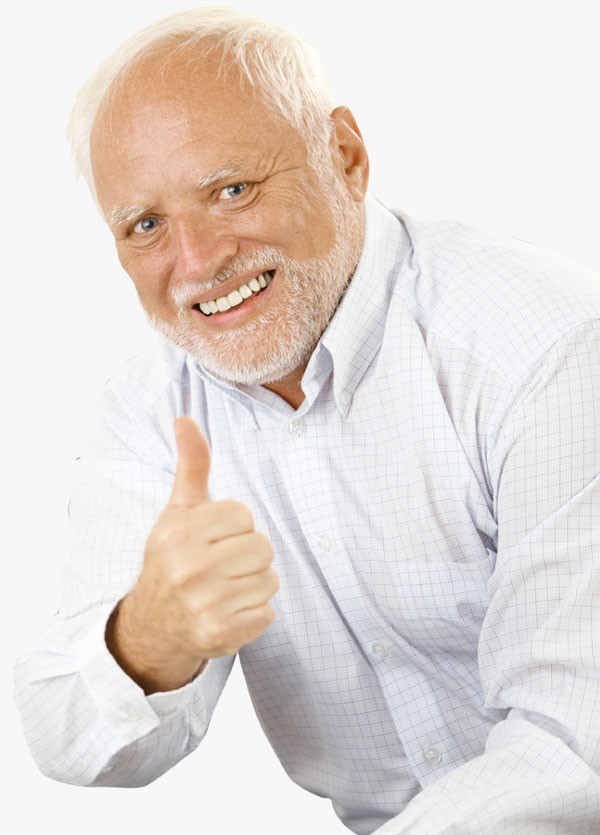 Harold Thumbs Up meme