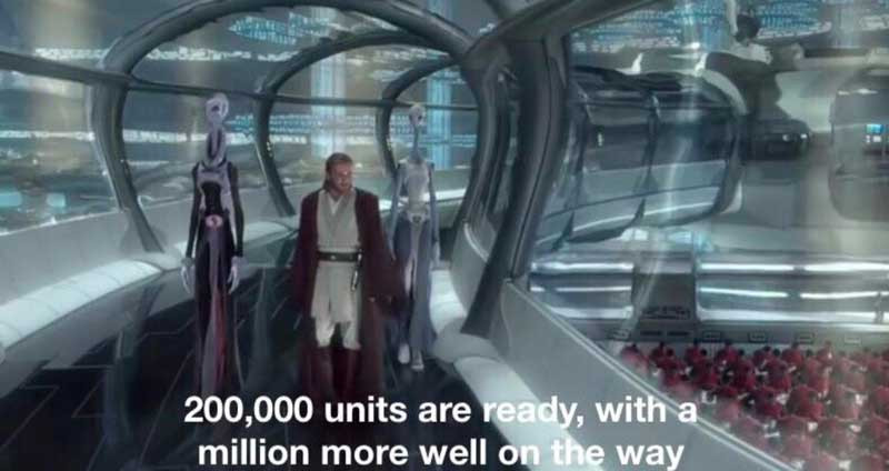 200000 units are ready, with a million more well on the way