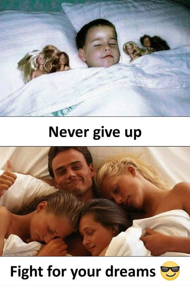 Fight for your dreams: Boy sleeping with dolls and real girls
