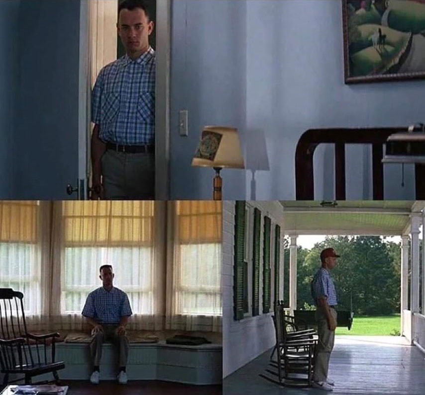Lonely Forest Gump meme template
