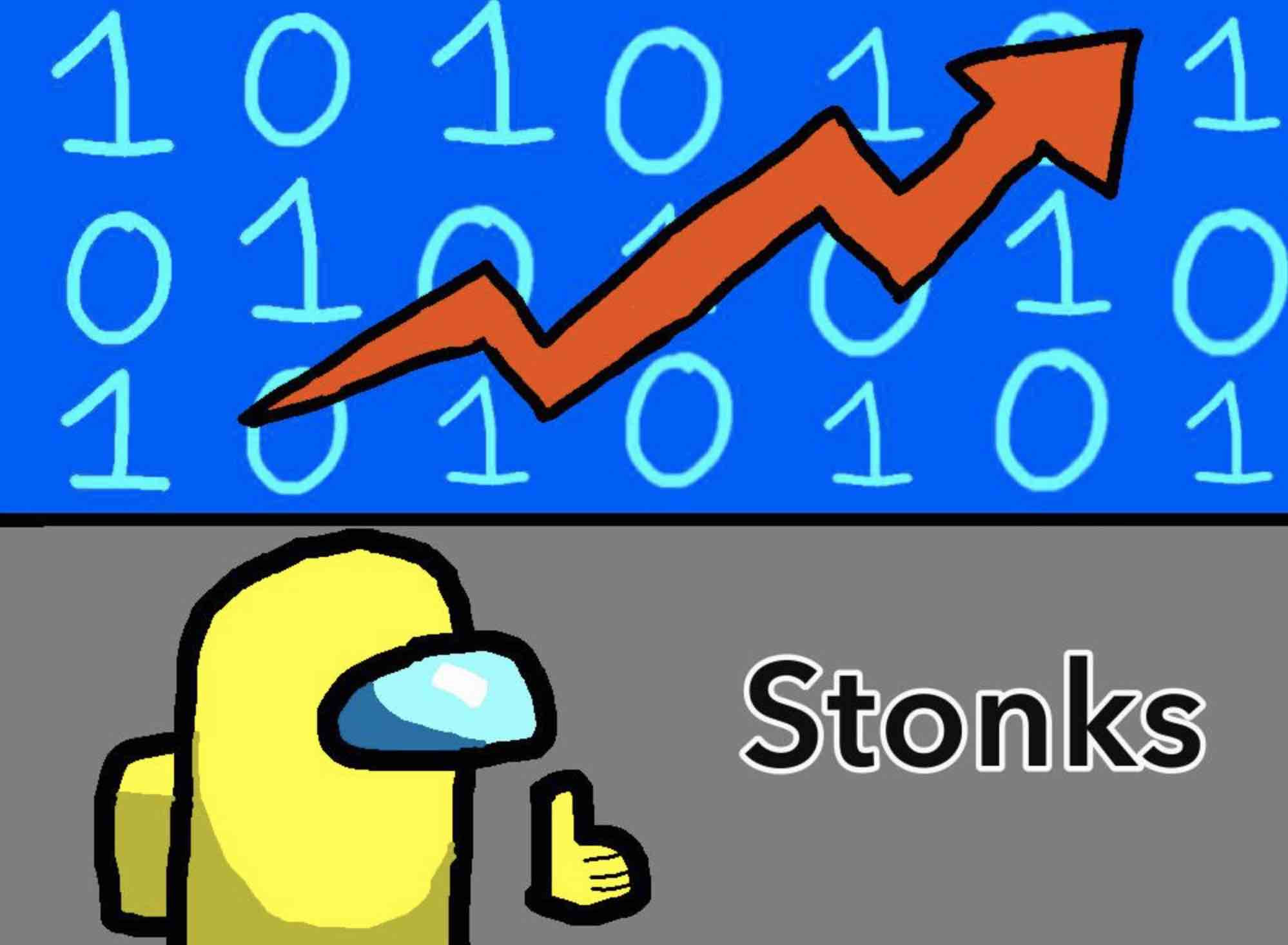 Among Us stonks meme