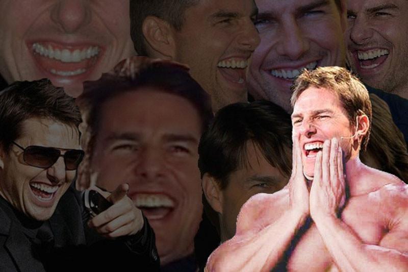 Tom Cruise laughing meme - many Tom Cruise faces