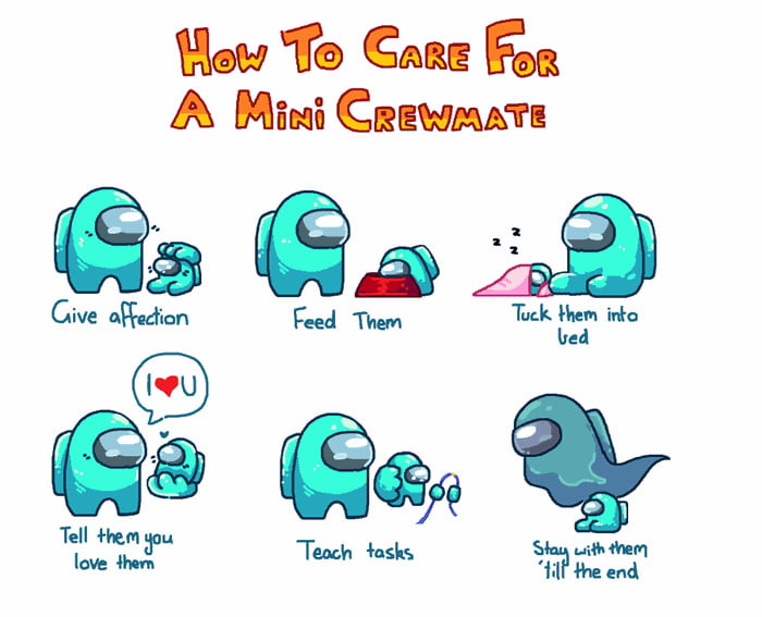 How to care for a mini crewmate in Among Us game