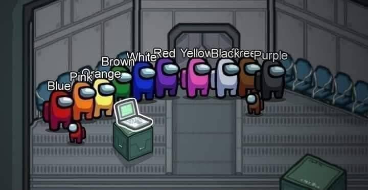Among Us players with wrong color names