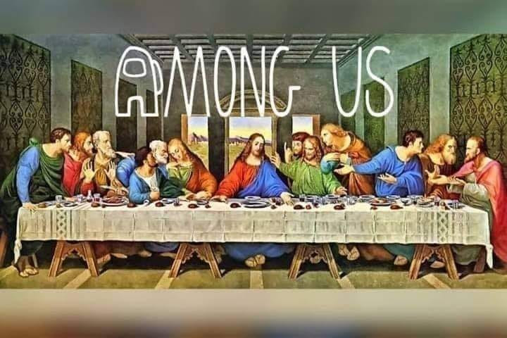 Among Us The Last Supper Jesus meme