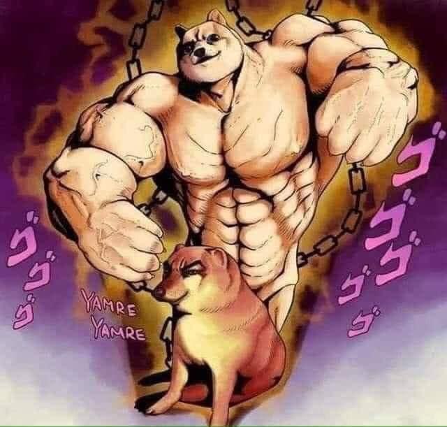 Super muscular Cheems meme
