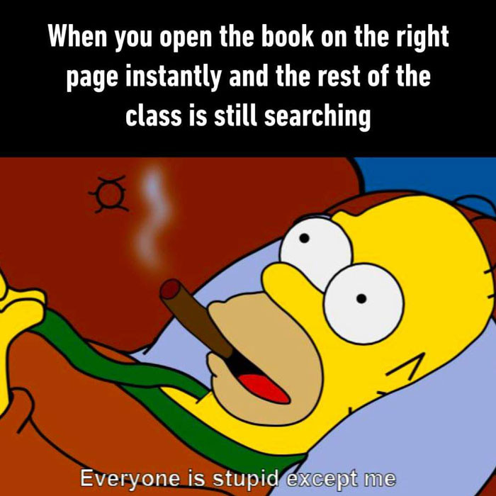 When you open the book on the right page instantly and others are still searching